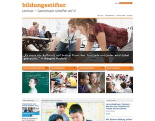 Bildungsstifter desktop screen